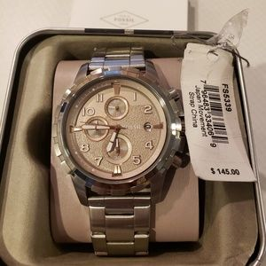Mens Fossil Chronograph Watch w/Stainless Steel